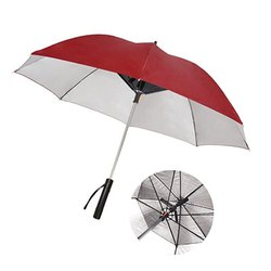 Two Fold UV Protected Umbrella In-BUILT Fan