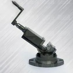 Bharat Tools Cast Iron Precision Milling Vise Vice Swivel Tilt Angular, Base Type: Fixed