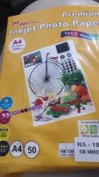Colour plus Glossy Paper 300 Gsm, Size: A4, 50