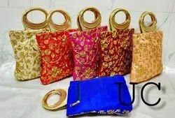 Cotton Metal Handle Bag, Capacity: 350 Gm, Size/Dimension: 3.5x7