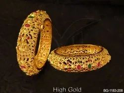 Traditional Brass Golden Bangles