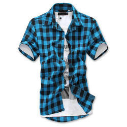 Mens Check Casual Shirt, Size: S - XXL