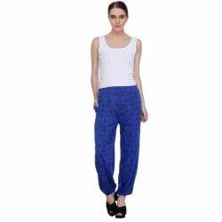 Ladies Night & Loungewear Blue Bottom Pyjama, Waist Size: 28 to 36 inch
