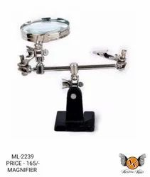 Jewelry Repair Soldering Iron Stand With Clamp Magnifying Glass