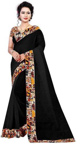 3eec1d2cb Multicolor Casual Wear Chanderi Cotton Saree