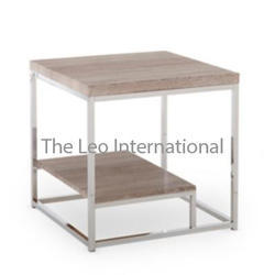 stainless steel furniture wood and metal table