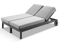 SMART SEATING aluminium ZIP SUNLOUNGER OUTDOOR, For Hotel, Size: 2 Meters X 700 Mm