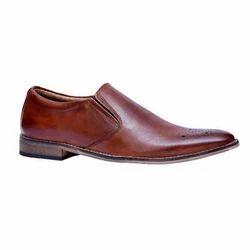 Vithariya Leather Men Brown Formal Shoes, Size: 6-10
