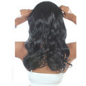 22 Inch Women Half Synthetic Black Curly Hair Extension