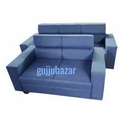 Gujju Bazar Blue Tight Back Modular Sofa, for Home