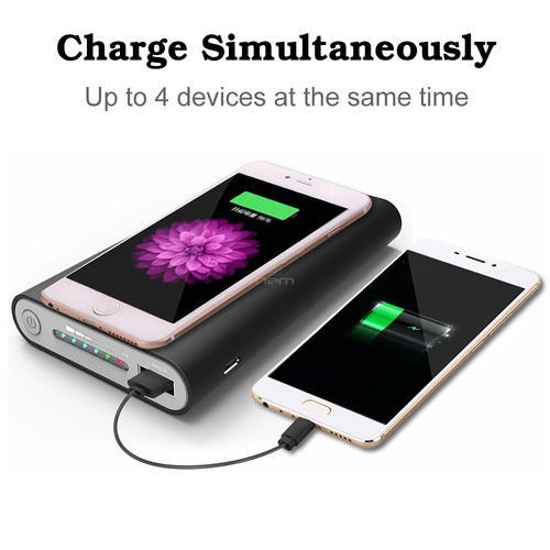 Multicolour ROQ Universal Wireless Charger & Power Bank 10000Mah