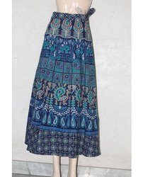 Jaipuri Print Puri Cotton Skirt