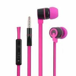 Pink Wired Earphones