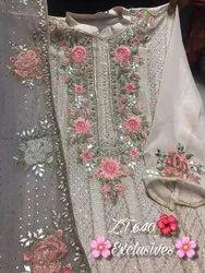Georgette Party Wear Pakistani Designer Suits