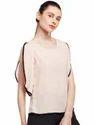 Casual Wear Plain Beautiful Designer Summer Cool Pink Slit Top