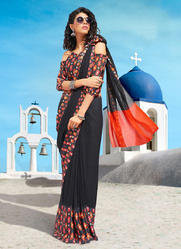 Georgette Printed Daily Wear Sarees at Lowest Rate