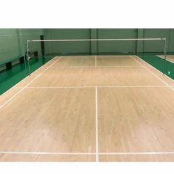 Wooden Flooring Badminton Court Flooring Services, For Sports Stadium
