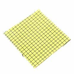 Yellow Check Corporate Uniform Fabric