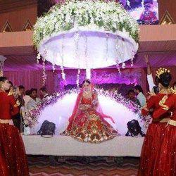 Multicolor Wedding Bride Entry Stage