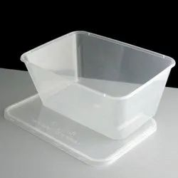 Plain Rectangular Transparent Plastic Containers, For Food Storage, Packaging Type: Box