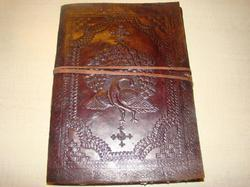 Peacock Embossed Handmade Leather Journal