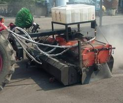 Road Sweeping Machine with Bucket, Side Brush and Water Tank System