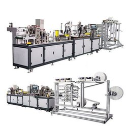 N-95 Fully Automatic Face Mask With Attached Nose Pin Making Machine- Speed: 3600 Pcs Per Hour