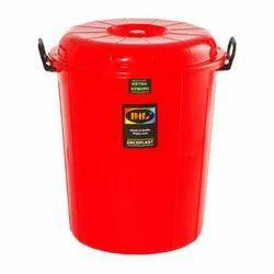 50 Liter Plastic Lid Bucket