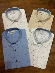 Formal Wear Printed Zara Man Mens Designer Shirt