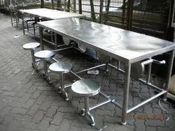 Stainless Steel 8 Shiter Dinning Table