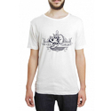 Dtaar Men's Cotton White Printed T Shirt, Size: S-xxl
