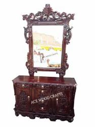 Teak Wood Antique Wooden Dressing Table, For Home, Size: 72x36x18