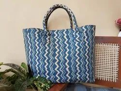 Hand Block Printed Canvas Bag, Size/Dimension: 14 X 22 Inches