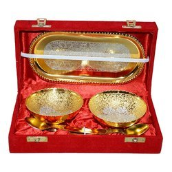 Gold Plated Bowl Gift Set