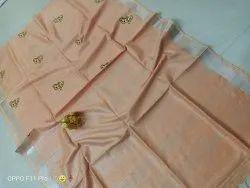 Linen Thread Embroidery Work Sarees