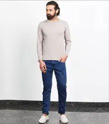 Besimple Men's Grey Full Sleeve T-Shirt