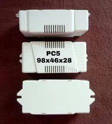 White Bhatia Electricals LED Plastic Housing PC 5, Size/Dimension: 98 X 46 X 28 Mm Depth