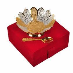 Gold Plated Serving Bowl Set