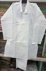 Boys Cotton White Kurta Pyjama