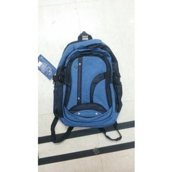 Blue-Black Plain School Bags