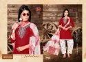 Chiffon Blue Lizi-rimple-tc Rayon Ready Made Salwar Suits