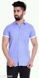 Men Half Sleeve Cotton Shirt