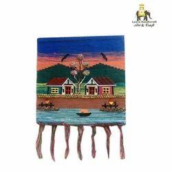 Handmade Jute Cloth Patchwork Wall Hanging