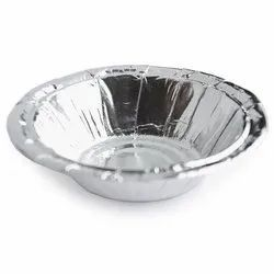 Round 90 GSM Silver Paper Bowl, For Event and Party Supplies, Size: 6 Inch