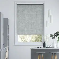 Polyester Vama Texture Black Out Roller Blinds
