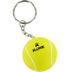 Key Ring With Leather Tennis Ball