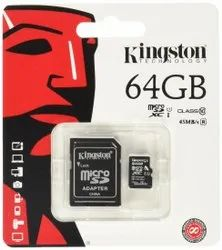 Kingston Memory Cards, For Computer, Laptop, Memory Size: 64 Gb