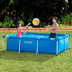 Toy Park 8.5 Ft Rectangular Metal Frame Swimming Pool, Dimension: 8.5' X 5.3' X 2.13'