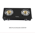 Black Brass Burner Brio Plus 2b Hindware Glass Cooktop