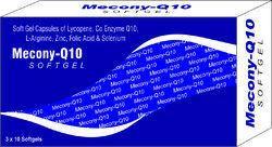 Soft Gel Capsules of Lycopene Co Enzyme Q10 L-Arginine Zinc Folic Acid and Selenium